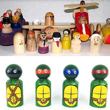 10 pçs madeira maciça pessoas natural inacabado madeira manchada pessoas de madeira peg boneca artesanato ornamentos