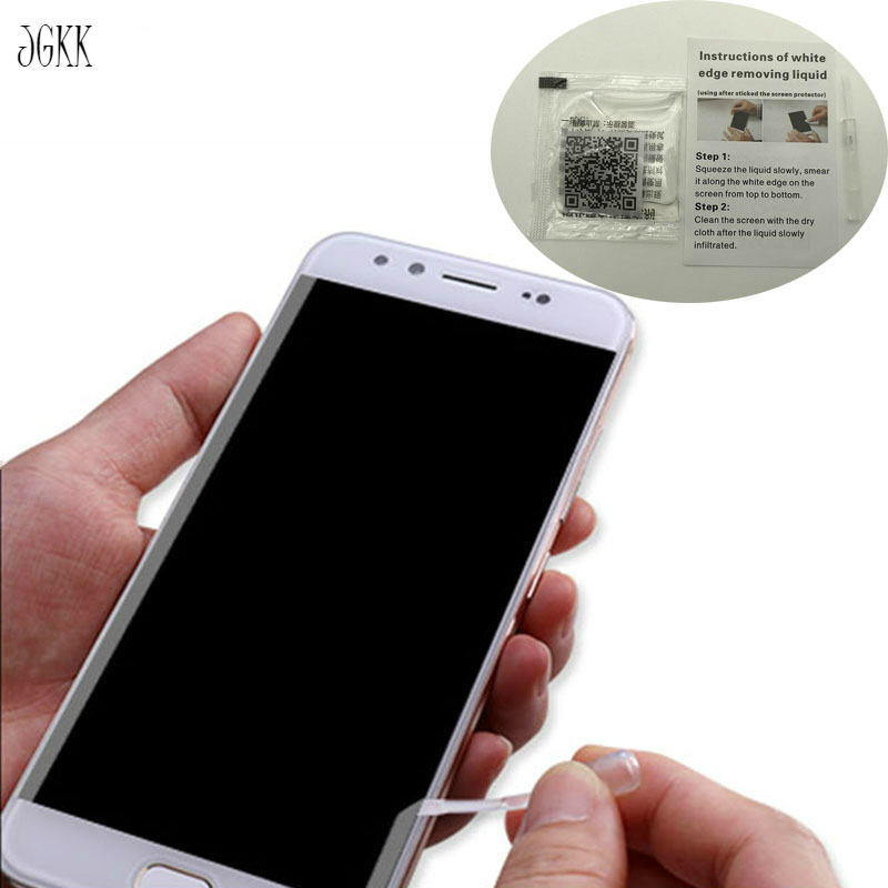 JGKK 5PCS Tempered Glass White Edge Revising Liquid with Brush For Samsung Xiaomi Screen Protector White Border Eliminate Liquid