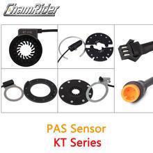 Chatrider KT PAS pedał czujnik wspomagający V12L D12L BZ-4(8) BZ-10C Julet wodoodporne złącze 6 magnesów podwójne czujniki halla 12 sygnałów