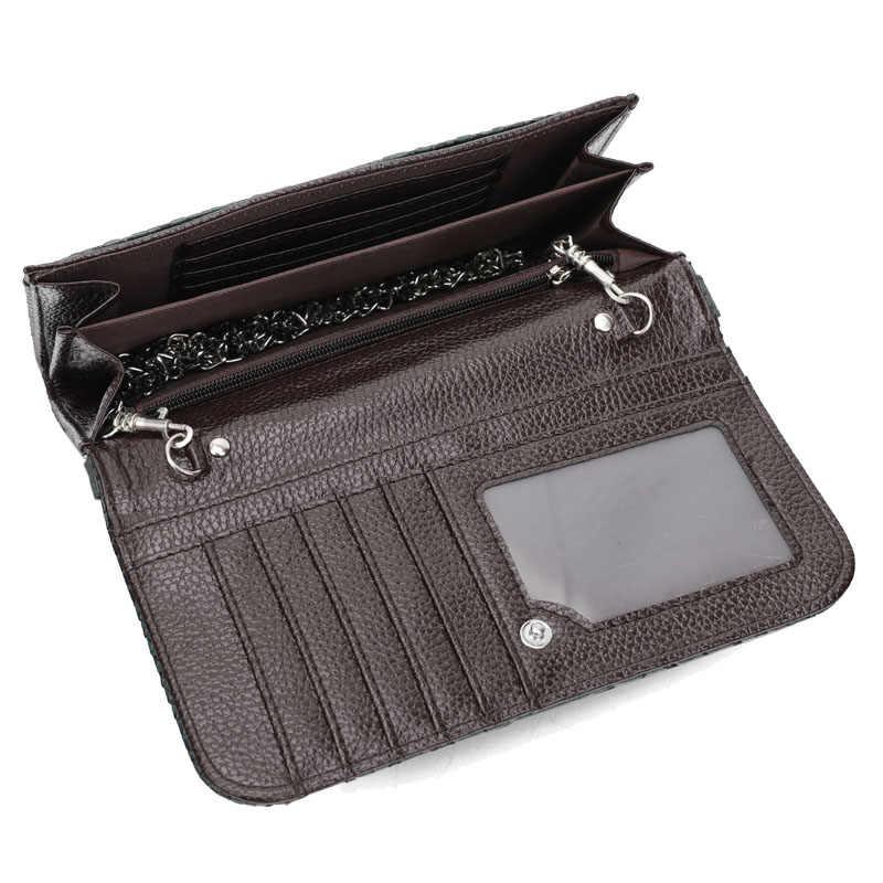 2020 ผู้หญิงใหม่ลำลองกระเป๋าสตางค์โทรศัพท์มือถือกระเป๋าสตางค์ Big ผู้ถือบัตรกระเป๋าสตางค์กระเป๋าถือ CLUTCH Messenger สายรัดไหล่กระเป๋า