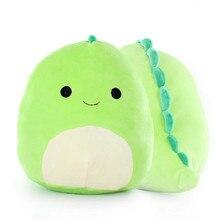 Lovely 3D Dinosaur Green Pillow Soft Lumbar Back Cushion Soft Plush Stuffed Toy outdoor garden cushions Outdoor cushion 2021