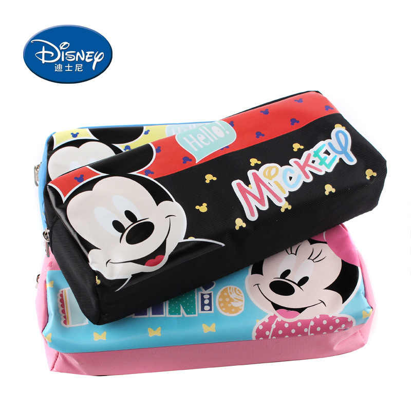 Disney simple pencil case Mickey cute student stationery Cartoon school supplies pencil pouch Children's gift holiday gift