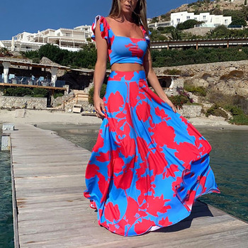 [Gu Yi] 2020 Amazon Europa y América Comercio exterior explosión cruzada mujeres &/39;s estampado de moda fuera del hombro vestido