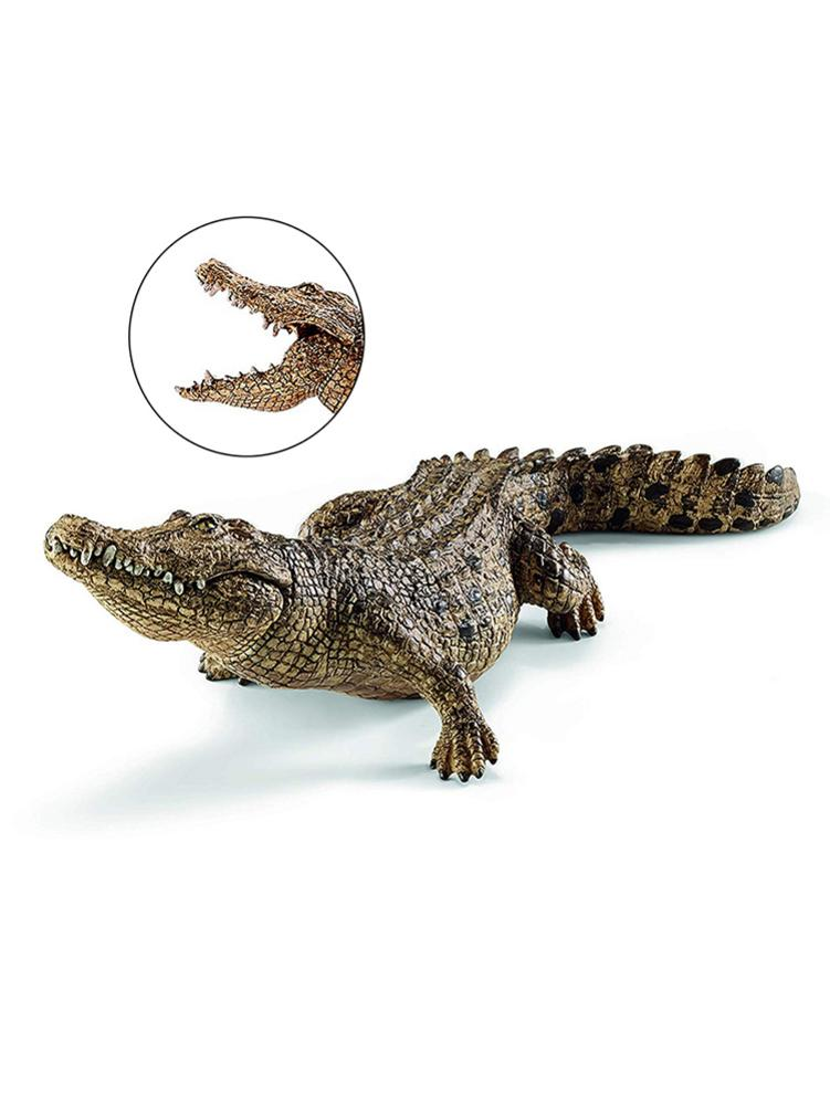 1pcs 7.2inch Crocodile Figurine Animal Action Figure Toys PVC Wild Animal Model Educational Figurine Gift For Kids 14736