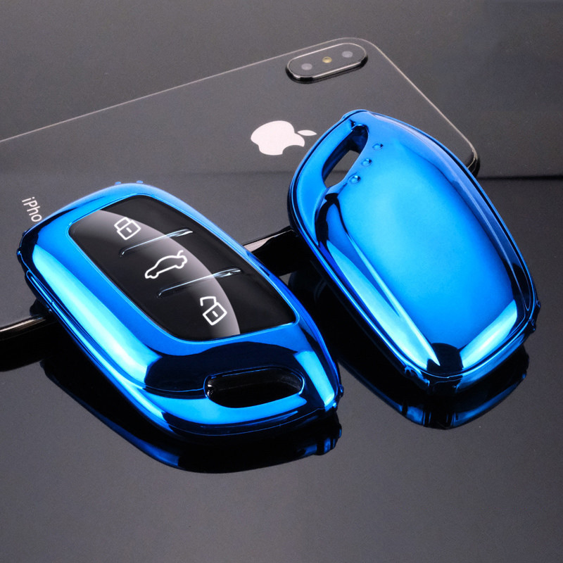 Soft TPU Car Smart Remote Key Case Full Cover For Roewe RX5 I6 ERX5 I5 RX8 RX3 For MG6 MG ZS EV EZS HS EHS Accessories