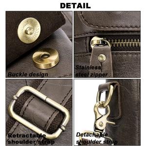 Image 5 - MVA mens briefcase Genuine Leather laptop bag mens leather bag office bags for men laptop briefcase lawyer men bags 8615