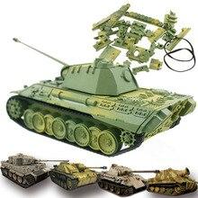 4D Танк модель строительные наборы Военная сборка развивающие игрушки украшения материал пантера Тигр штурм