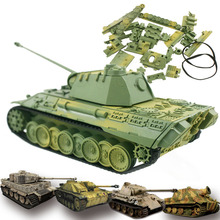 4D Tank Model Building Kits Military Assembly Educational Toys Decoration Material Panther Tiger Turmtiger Assault