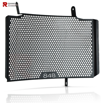 Motorcycle Accessories Radiator Guard Grill Cover Water Tank Cooler Bezel Protector Grille For Ducati 848 Upper 2007-2013 2008