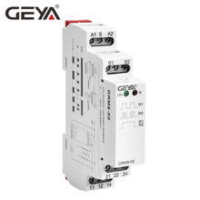 цена на Free Shipping GEYA GRM8 Din Rail Electronic Latching Relay Memory Relay Impulse Relay SPDT 16A Step Relay AC230V OR AC/DC12-240V