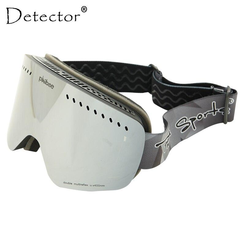 Détecteur UV400 lunettes de Ski Anti-buée Double lentille hommes Skateboard Snowboard neige lunettes motoneige Ski femmes hiver lunettes de soleil