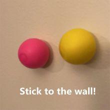 Przyklejana na ścianę piłka piłka dekompresyjna przyklejony Squash Ball ssania dekompresji zabawki przyklejony cel piłka Catch rzuć Ball dzieci zabawki tanie tanio CN (pochodzenie) Funny toy 9n036407 3 lat Unisex Przyklejony sucker ball Sport rubber 4n036407