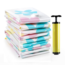 купить Thick Cotton Quilt Clothes Vacuum Compression Bag Vacuum Bag Storage Bag 4 Extra Large 4 Medium Plus Hand Pump cloth box по цене 752.27 рублей