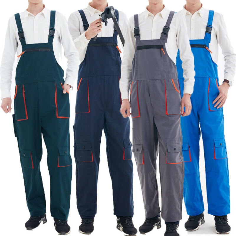 Womens Mens Brace Painters Overalls Coveralls Engineers Dungarees Casual Loose Jumpsuits Work Trousers Outfits Plus Size L-4XL