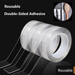 Nano Magic Tape Reusable Double-Sided Adhesive Multipurpose Nano-Adhesive Tape No Trace Washed Magic Glue Loop Disks Tie Glue(China)