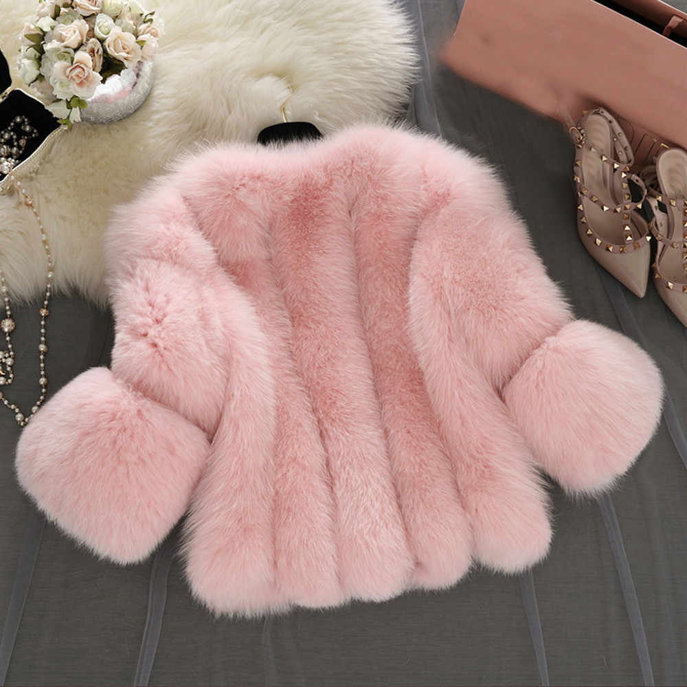 秋冬の女性のフェ毛皮のジャケット毛皮ショートステッチフェイクファーコート暖かいソリッドエレガントな女性フェイクファージャケット Chaquetas mujer