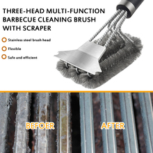Best BBQ Grill Brush and Scraper BBQ Cleaner Brush Perfect Tools Steel Grill Cleaning Brush Ideal Barbecue Accessories