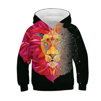 3D bluzy druku Paisley błyskawica wilk lew bluzy z kapturem jesień zima cienka z kapturem swetry topy chłopcy dziewczęta dzieci bluzy tanie i dobre opinie lucky friday Film i TELEWIZJA Kurtki Płaszcze Unisex the mountain spandex XS S M L XL kostiumy