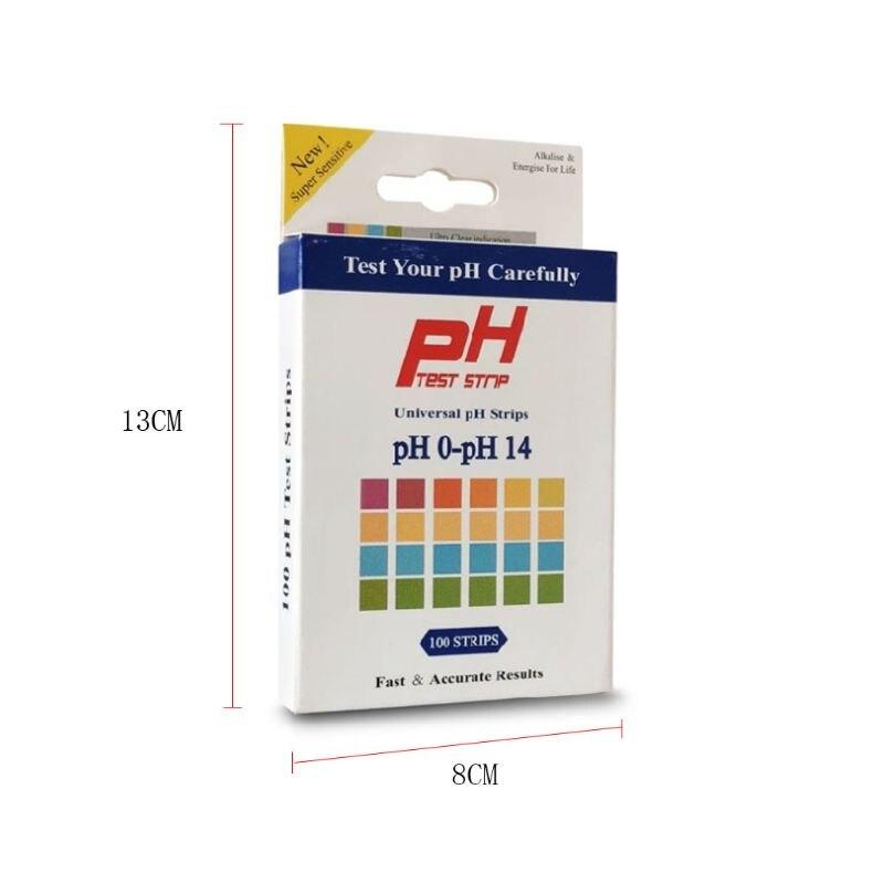100 шт PH Тест-Полоски 0-14 шкала Премиум Лакмус тест er бумага для кислотной щелочности Y98E