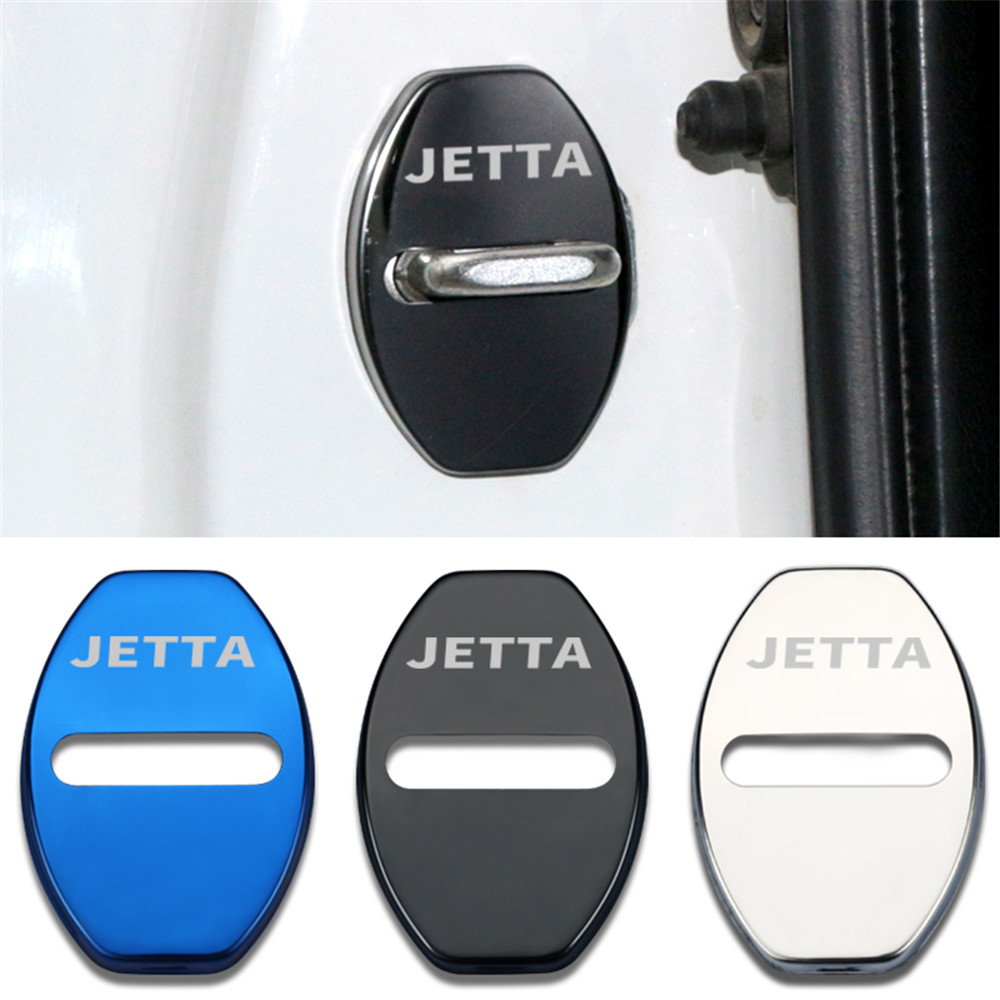 Car-Styling car door lock cover Auto Emblems Case For <font><b>Volkswagen</b></font> VW Jetta Golf 4 5 6 POLO <font><b>Passat</b></font> <font><b>B5</b></font> B6 Touareg Touran image