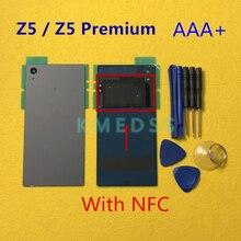 소니 Xperia Z5 E6603 E6653 E6633 E6683 Z5 프리미엄 E6853 e6883에 대 한 nfc와 원래 주택 후면 배터리 도어 커버 케이스