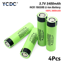 YCDC 새로운 원래 NCR 18650B 배터리 3.7 v 3400mah 18650 리튬 충전식 배터리 방전 20A 손전등 배터리