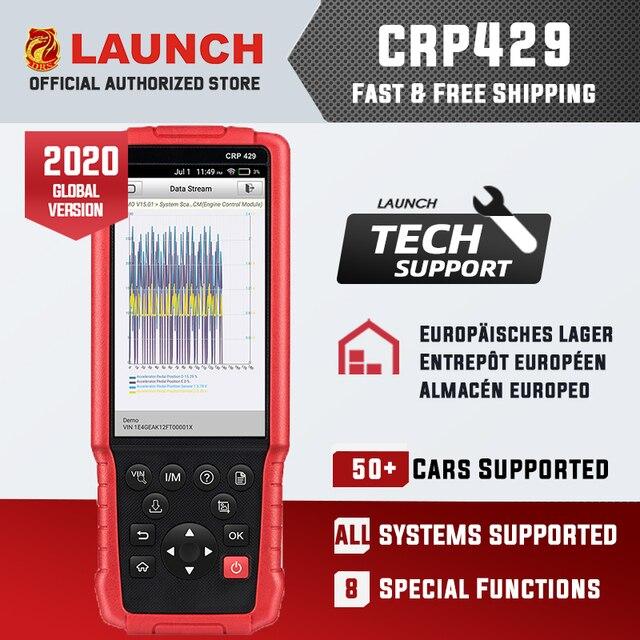השקת CRP429 OBD2 אבחון סריקת כלי אנדרואיד 7.0 כל אבחנות מערכת CRP 429 ABS דימום, מזרק קידוד, IMMO מפתח תכנית
