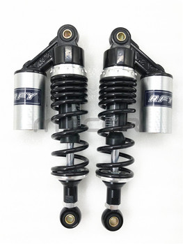"""RFY 1pair 11"""" 280mm motorcycle air shock absorber rear suspension for Yamaha Motor Scooter ATV Quad Black & silver"""