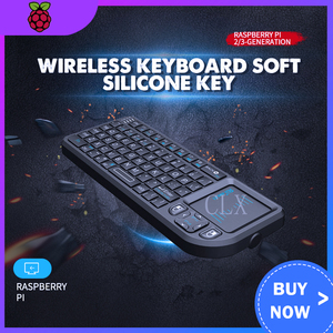 Raspberry Pi 4 módulo B Orange Pi 2,4g teclado inalámbrico, suave llavero de silicona, ratón táctil, decodificador de televisor inteligente todo-en-uno
