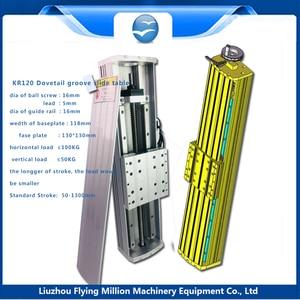 1605 tornillo de bola, carril de guía, mesa deslizante, deslizante recto, Módulo lineal, carril de precisión, módulo deslizante CNC trabajo 70-1370mm