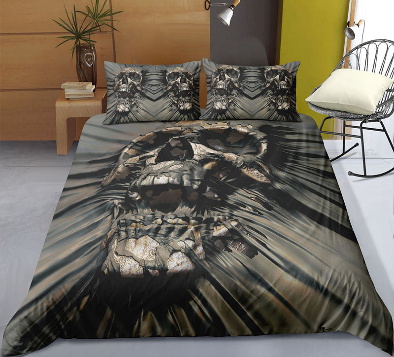 Fanaijia Bedding Sets king size luxury sugar skull Duvet Cover Set Quilt Cover with Pillowcase bed sets bed comforter