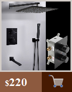 Hf0bb0dd6cc6d4c37bfb73f5e054dc5d11 BAKALA Luxury Matte Black Bathroom Faucet Basin Sink Tap Wall Mounted Square Brass Mixer Tap LT-320BR