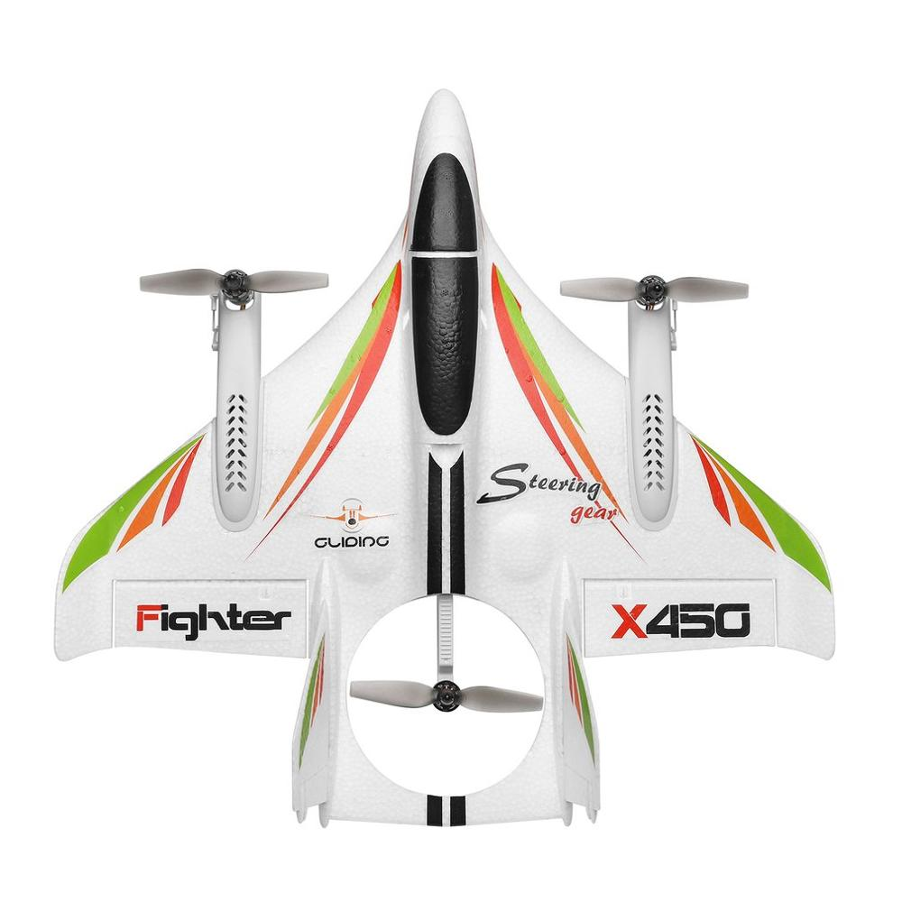 X450 3D Aerobatic RC Drone 6 Channels Remote Control Drones Vertical Takeoff Landing Fixed Wing Airplane Helicopter Drone Toys