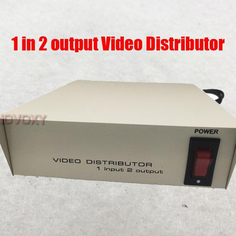 Güvenlik ve Koruma'ten CCTV Kontrol Sistemi'de Ücretsiz kargo 1 In 2 Out kompozit BNC konektörü Video dağıtıcısı amplifikatör 1 2CH Splitter CCTV güvenlik kamera DVR sistemi title=