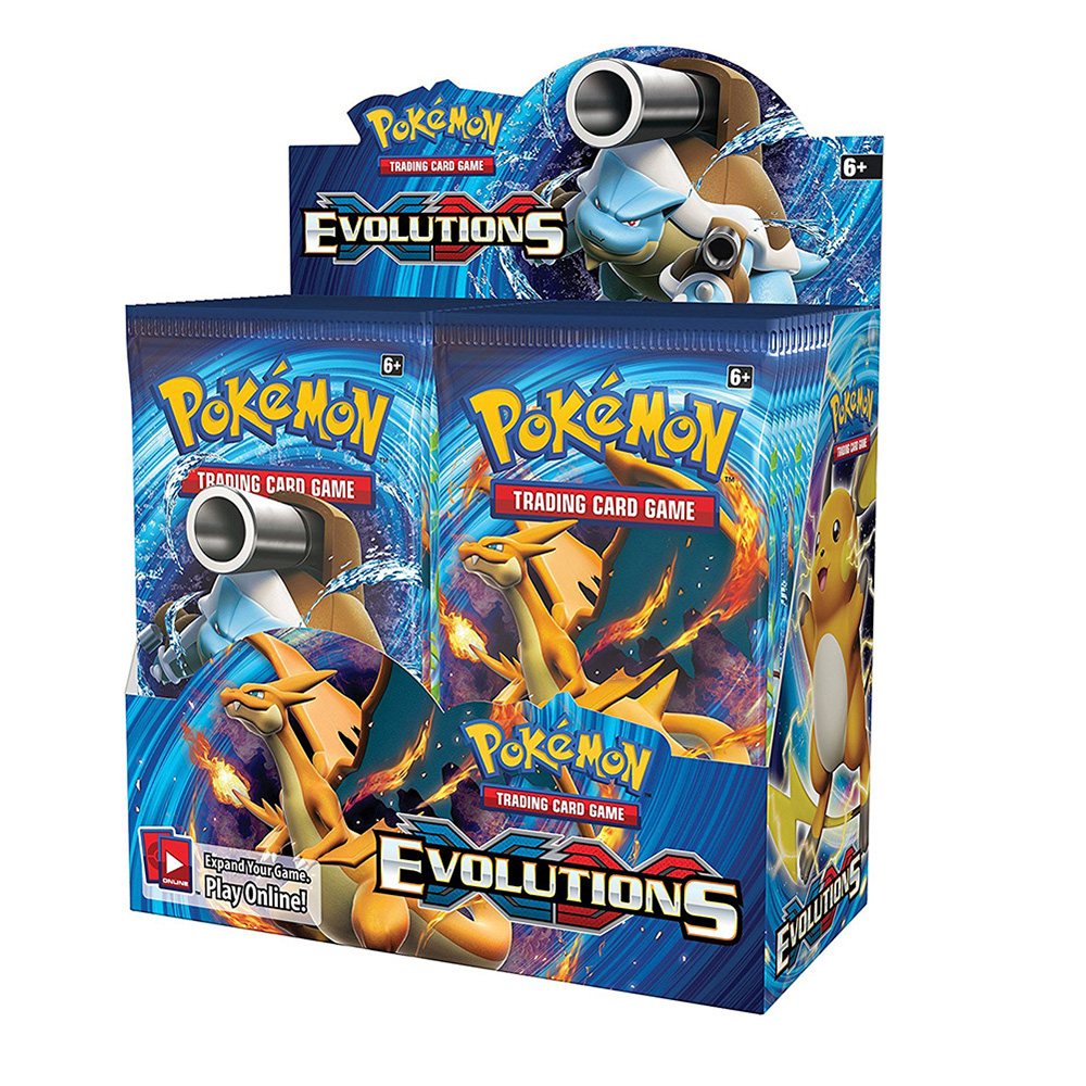 New 324pcs Cards Pokemon TCG: XY Evolutions Sealed Booster Box Trading Card Game Kids Collection Toys For Childrens