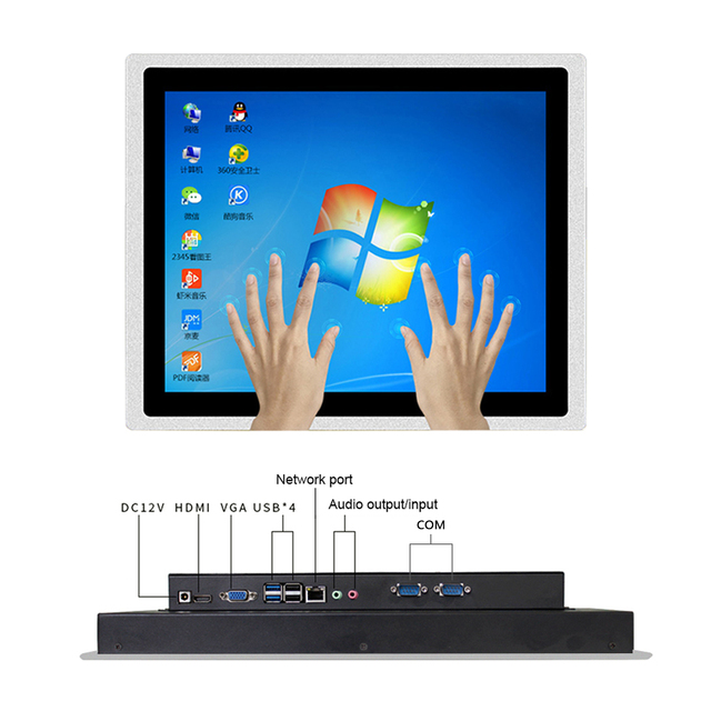 10 12 15 17 Inch Industrial Tablet pc all in one pc Inte core i3 i5 With Capacitive Touch Screen for Windows 10 pro Linux 4