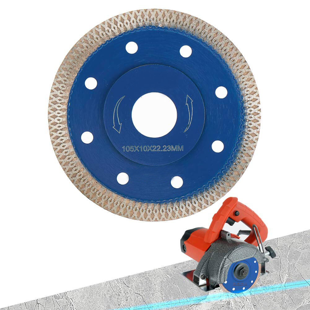 Super Thin Diamond Disc Saw Blade For Cutting Porcelain Tiles Granite Marble Ceramics Match With Hand-held Machine