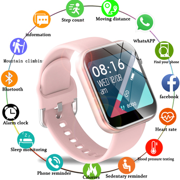 LIGE Women Men Smart Electronic Watch Luxury Blood Pressure Digital Watches Fashion Calorie Sport Wristwatch relogio feminino