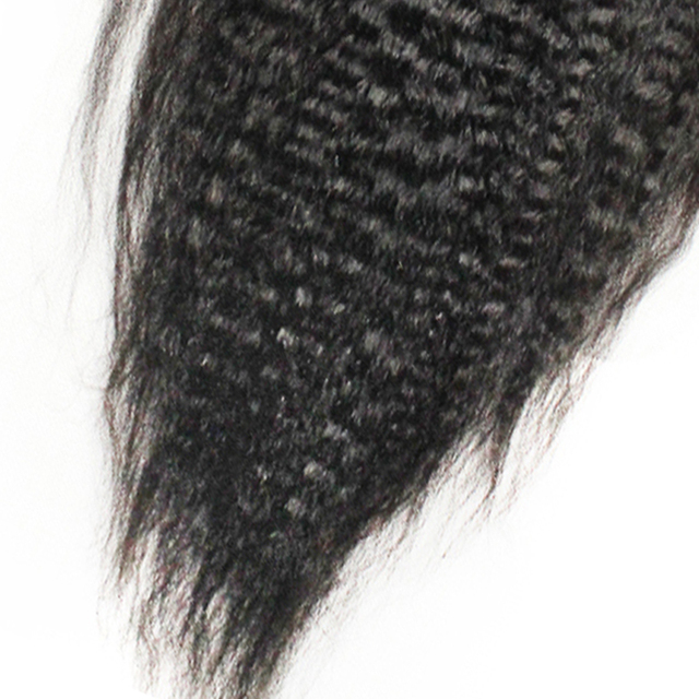 Kinky Straight Clip In Human Hair Extensions Remy Hair 100% Human Hair Natural Black 7 Pieces 120g/Set Rosa Queen