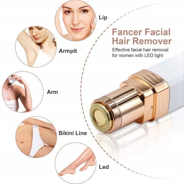 USB Charging Portable Electric Epilator Painless Hair Remover Epilator Eyebrow Trimmer Shaver For Face Lip Cheeks Women 1