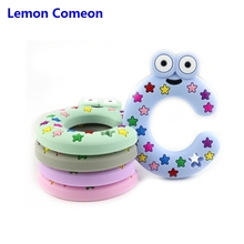 Food Grade Silicone Letter Alphabet C Shape Baby Teether Teething Toy Soft Bead Molar Stick For Teeth Product