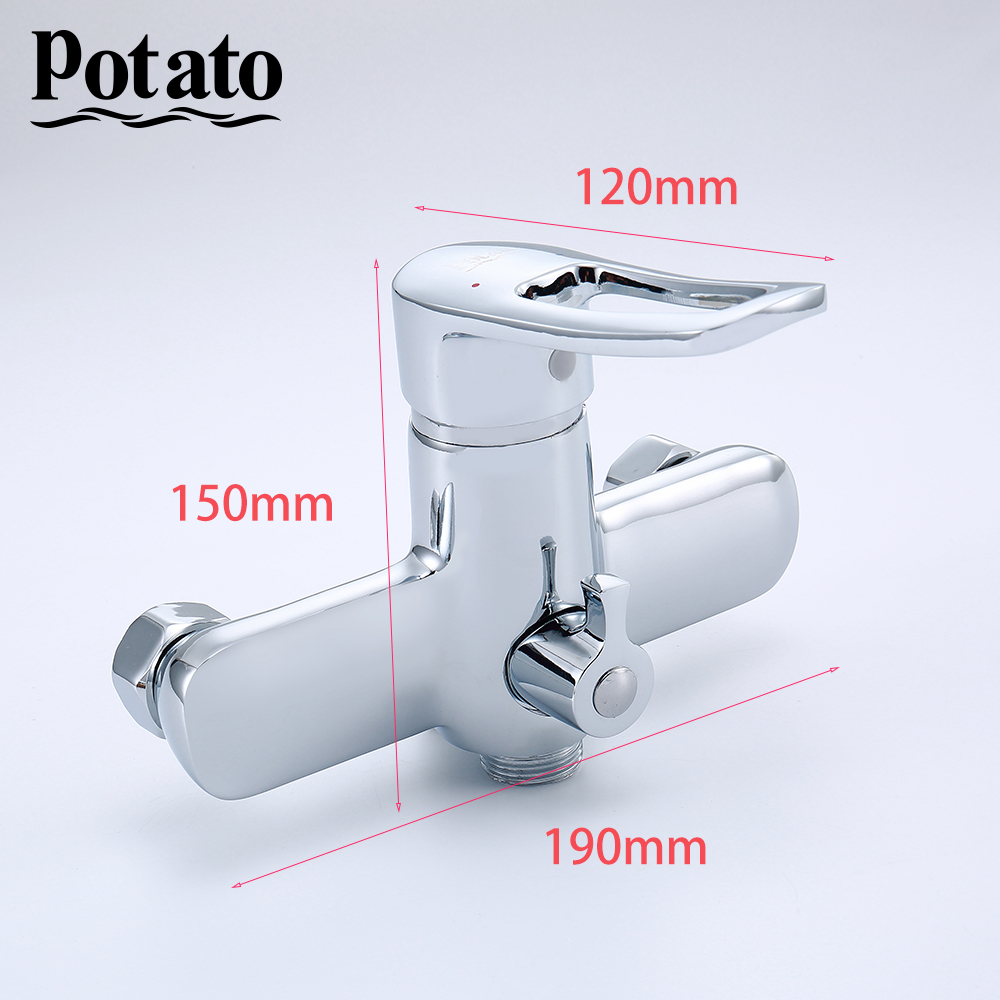 Potato Bathroom Faucet Silver Chrome Outlet Pipe Tap For Bath Zinc Alloy With ABS Shower Head Potato Bathroom Faucet Silver Chrome Outlet Pipe Tap For Bath Zinc Alloy With ABS Shower Head Bathroom Set p22150