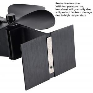 Image 3 - طقم أدوات مروحة الموقد ، تعمل بالطاقة الحرارية 4 شفرة موقد مروحة ومقياس حرارة الموقد ، عملية صامتة ، مروحة صديقة للبيئة للموقد