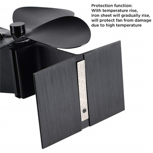 Image 3 - Fireplace fan Tools Set, Heat Powered 4 Blade Stove Fan and Fireplace Thermometer, Silent Operation, ECO Fan for Stove