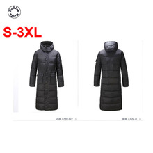 Men's big yards winter long cotton-padded jacket more male over-the-knee warm hooded casual cotton coat S to 3XL free shipping 2017 winter in the new dress suits brought long cotton padded clothes woman coat quilted jacket s 3xl