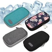 Portátil oxford pano insulina glaciated saco de armazenamento a frio medicina viagem bolso saco mais frio pacote freezer droga para diabetes pessoas