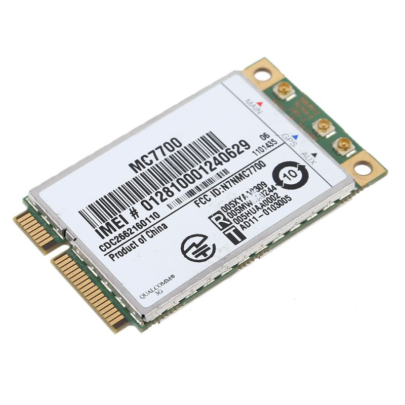 <font><b>Mini</b></font> <font><b>PCI</b></font>-E 3G/4G WWAN <font><b>GPS</b></font> Module MC7700 <font><b>PCI</b></font> Express 3G HSPA LTE Wireless Card image