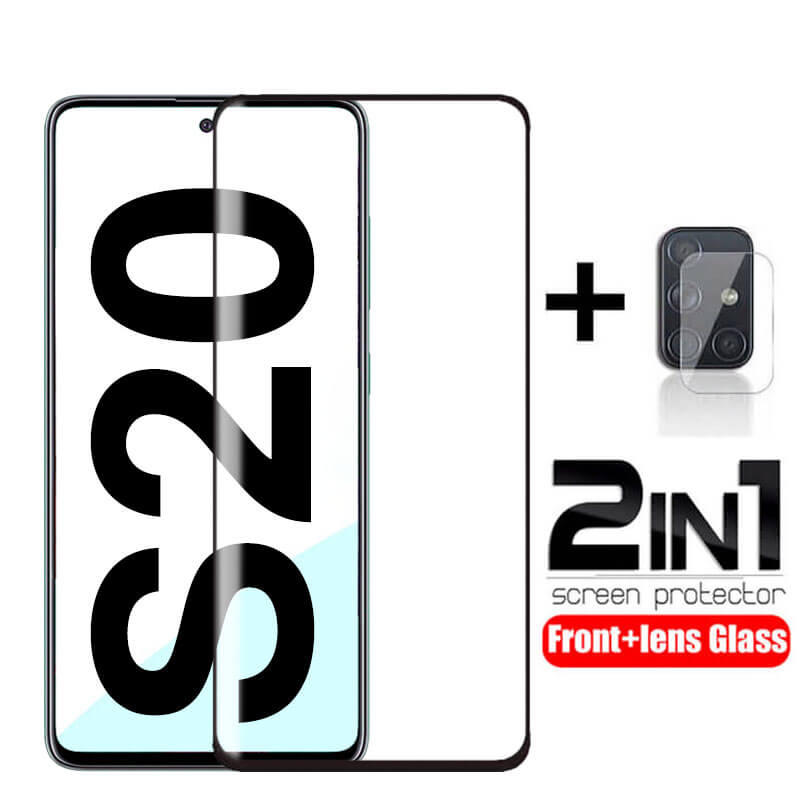 2 In 1 Tempered Glass For Samsung Galaxy S20 Ultra Protective Glas Camera Lens Screen Protector On Samsun S20 Plus S20ultra S 20