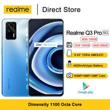 Realme Q3 Pro 5G telefon komórkowy Dimensity 1100 Octa Core 6.43