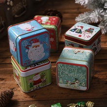 Get more info on the Embossing Christmas Tinplate Empty Tins Candy Cookie Gift Storage Container Holiday Decorative BoxCM